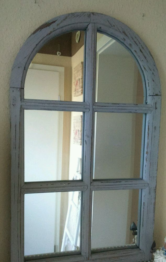Details zu Fenster Deko Fensterrahmen Rundbogenfenster Brocante Holz ...
