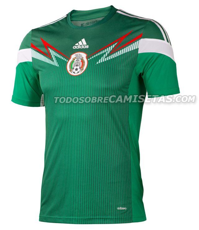 4dbd540ed7faa Todo Sobre Camisetas  OFICIAL  Nuevo Jersey Adidas de México 2014 ...