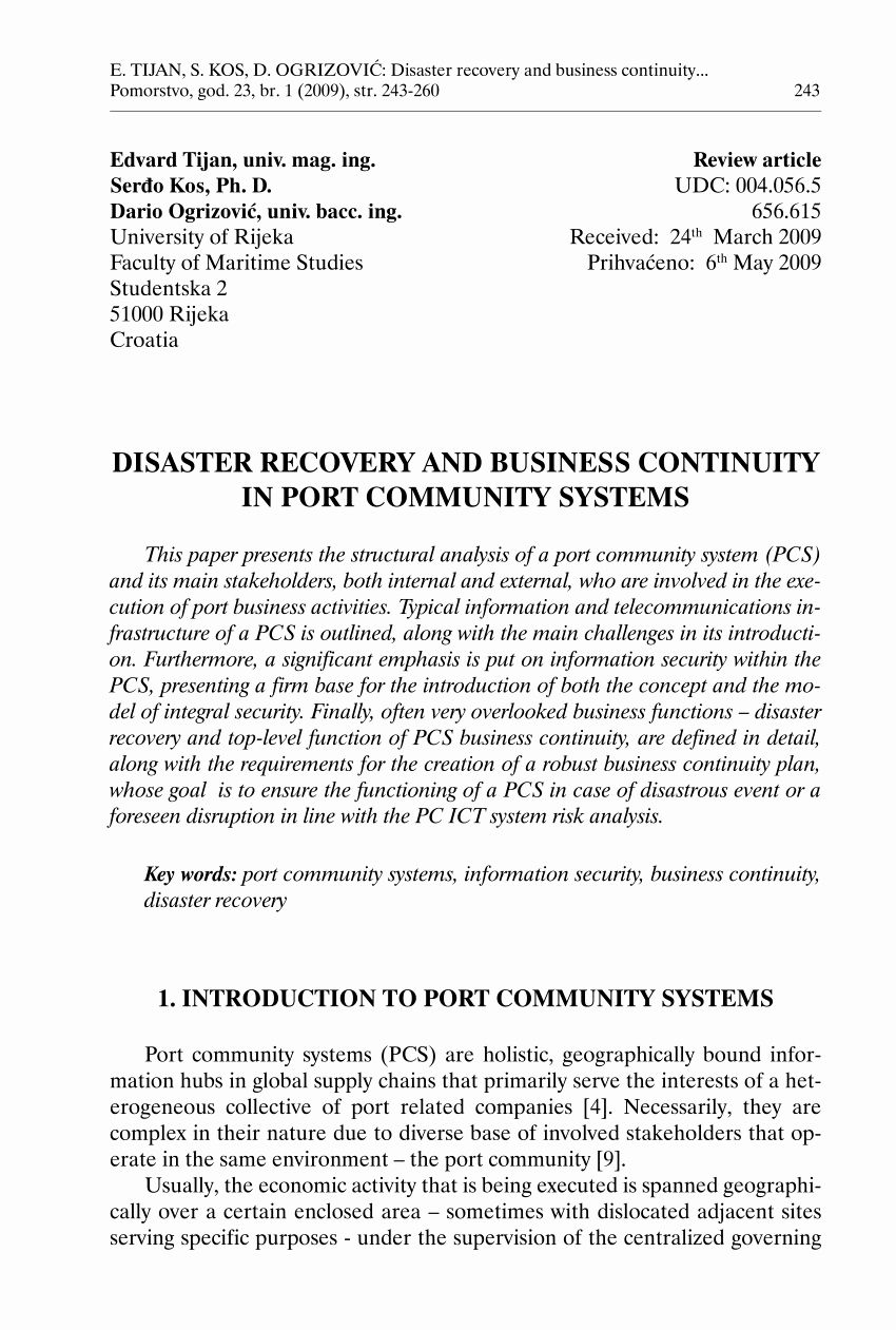 Database Disaster Recovery Plan Template In 2020 With Images