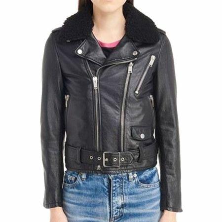 08aec57c4d09 Bulletproof Saint Laurent Leather Moto Jacket Customized Product ...