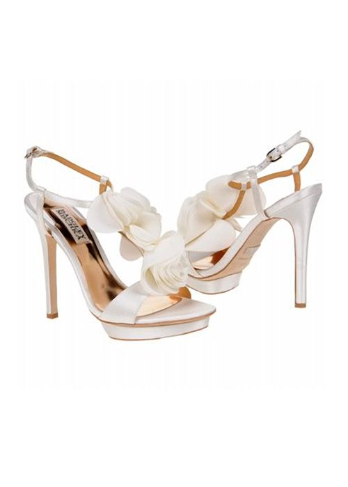 Badgley Mischka Randee Shoes White Satin