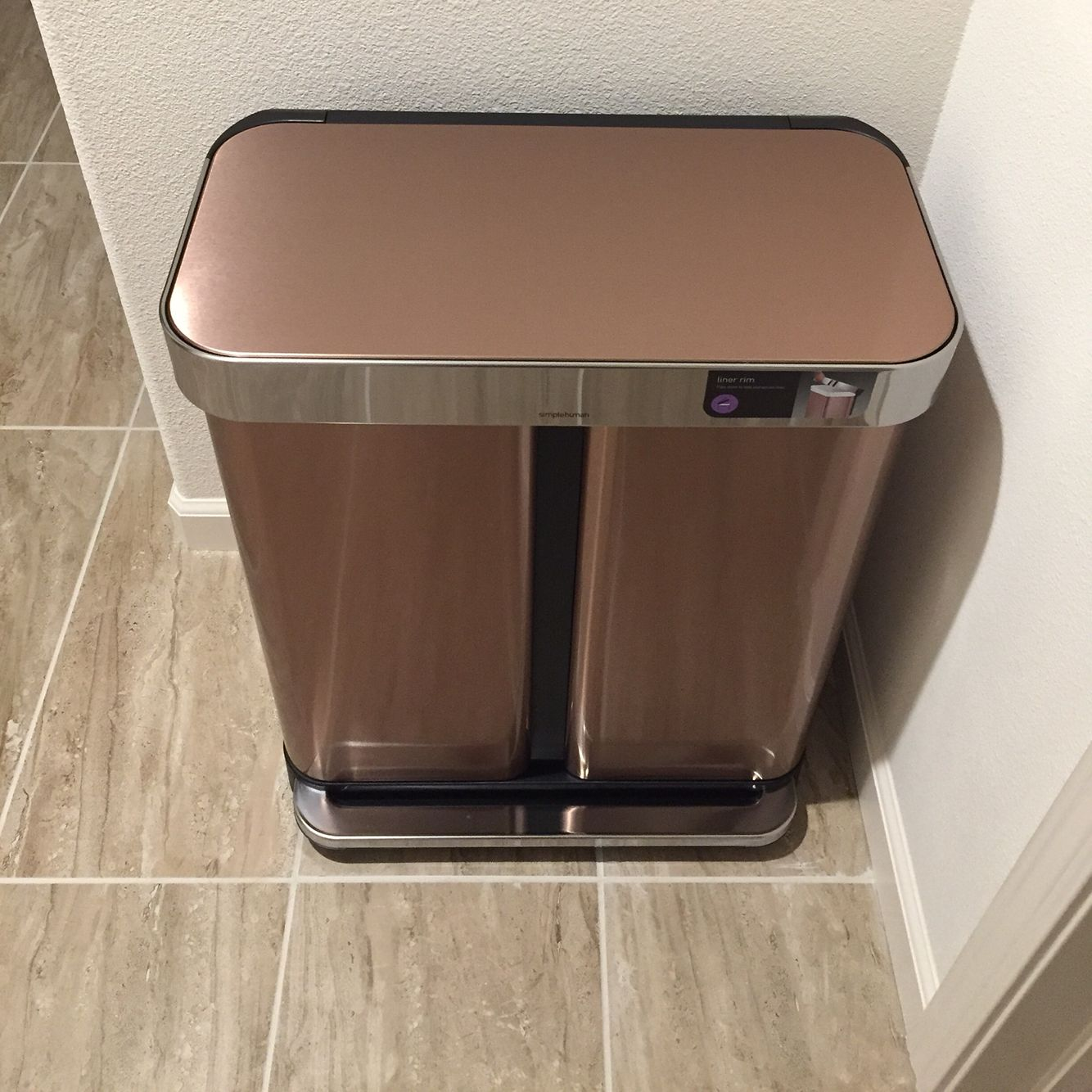 Rose Gold Trash Can From Simple Human Trash Can Simplehuman