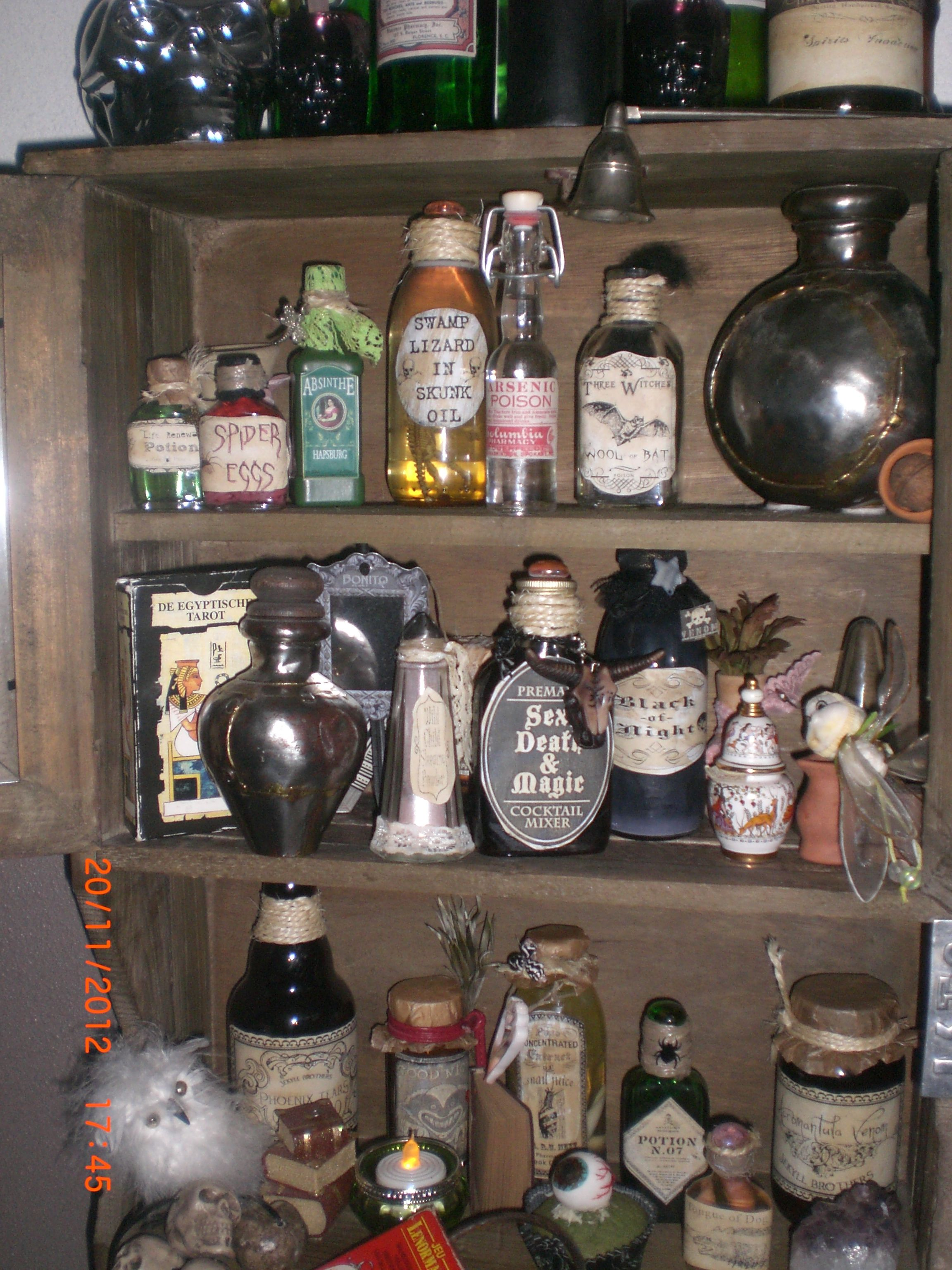 witch cabinet | Halloween Witchiness | Halloween potions ...