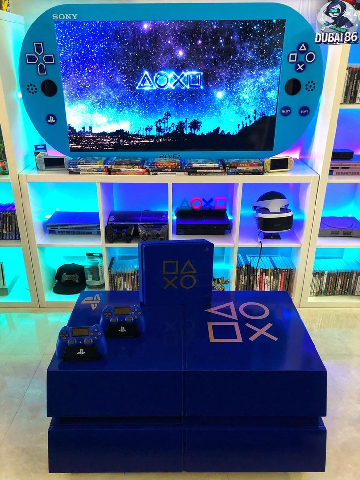 Playstation 4 1tb Console Video Game Rooms Video Game Room Design Game Room Decor Ps4 gaming bedroom ideas