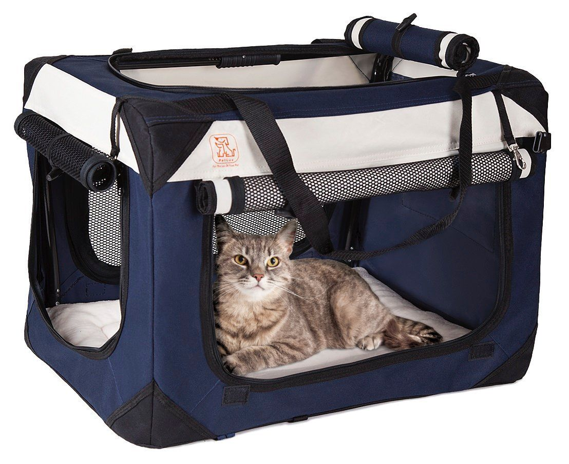 Soothing 'Happy Cat' Cat Carrier w/ Comfy Plush Sleep
