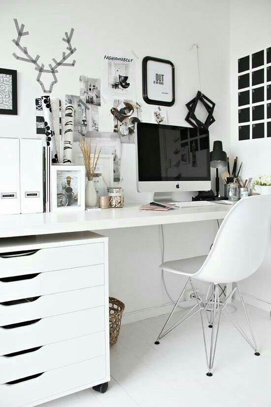 I Love The Black And White Very Clean Well Organized Space One Thing Need More Of Have NO Storage At My Current Home Office Desk