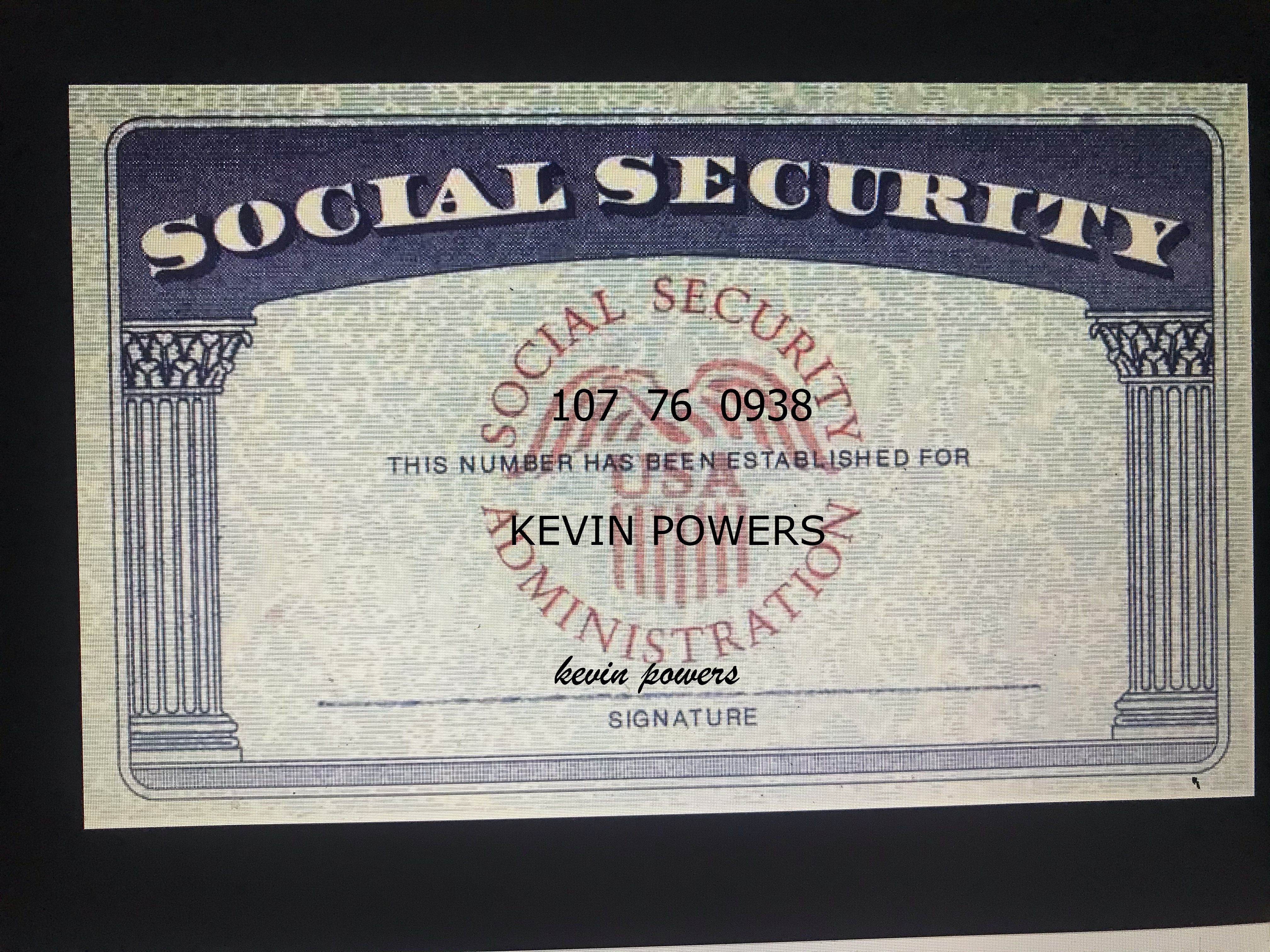 Social Security Card Social Security Card Passport Template Cards