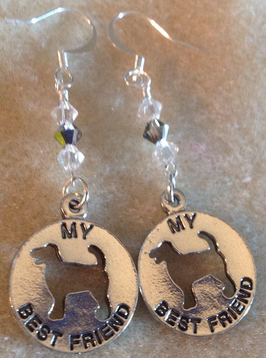 Wire wrapped Swarovski crystal charm earrings | Bnb handmade custom ...