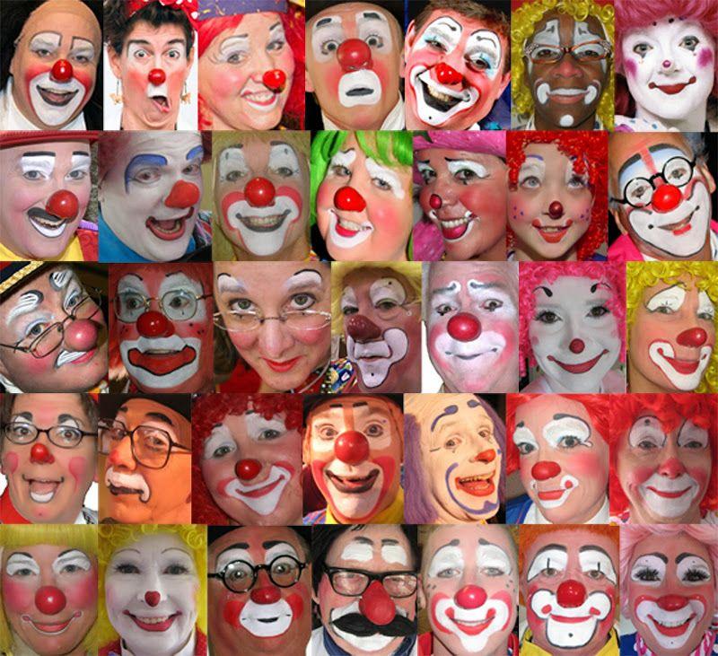Clown Faces Clown Faces Cute Clown Clown Makeup