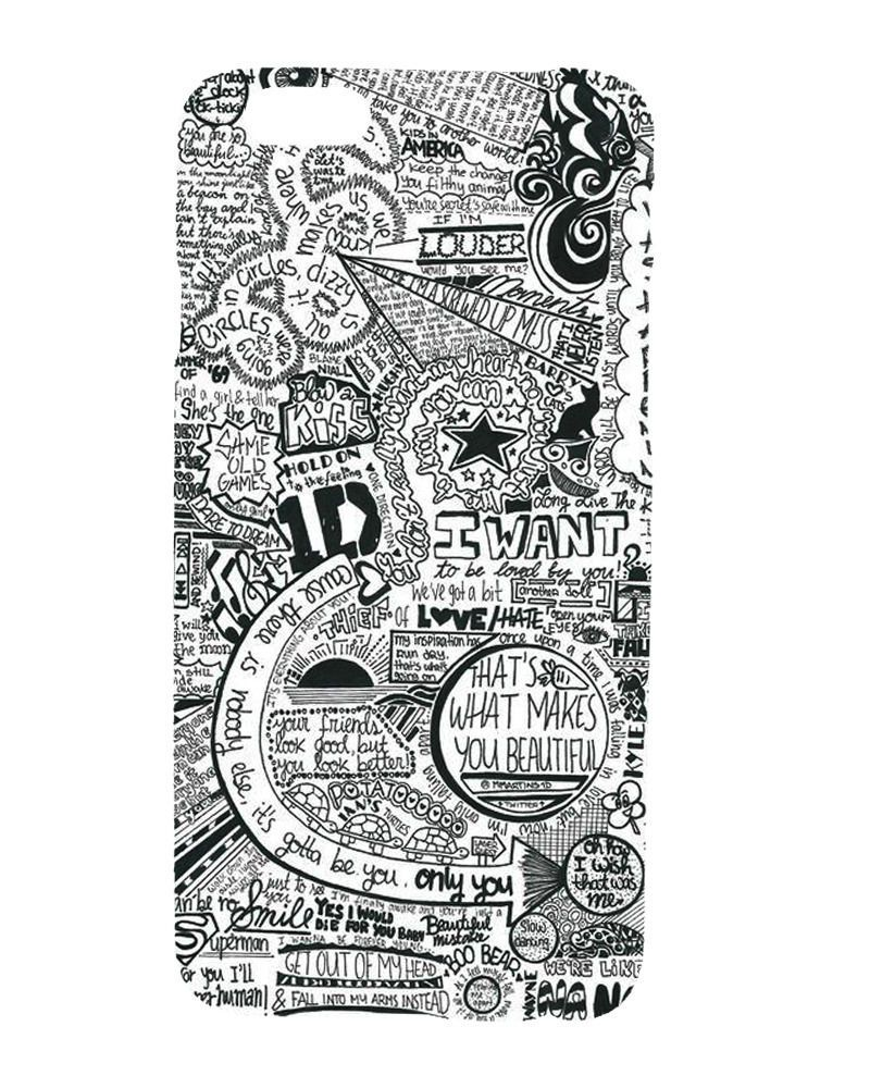 fc0bf49ee One Direction 1D Graffiti Art Collage Design Hard Case Cover For iPhone 6    Plus -  7.55