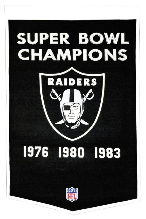 Oakland Raiders Banner 24x36 Wool Dynasty Oakland Raiders Oakland Raiders Logo Raiders