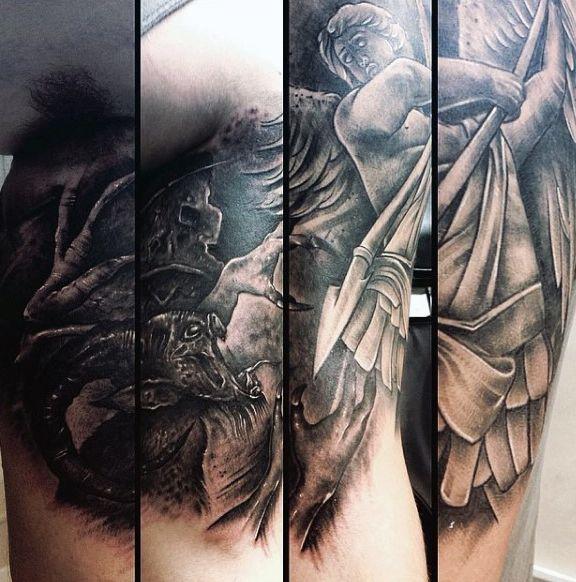 75 st michael tattoo designs for men archangel and prince tattoo ideas pinterest saint. Black Bedroom Furniture Sets. Home Design Ideas