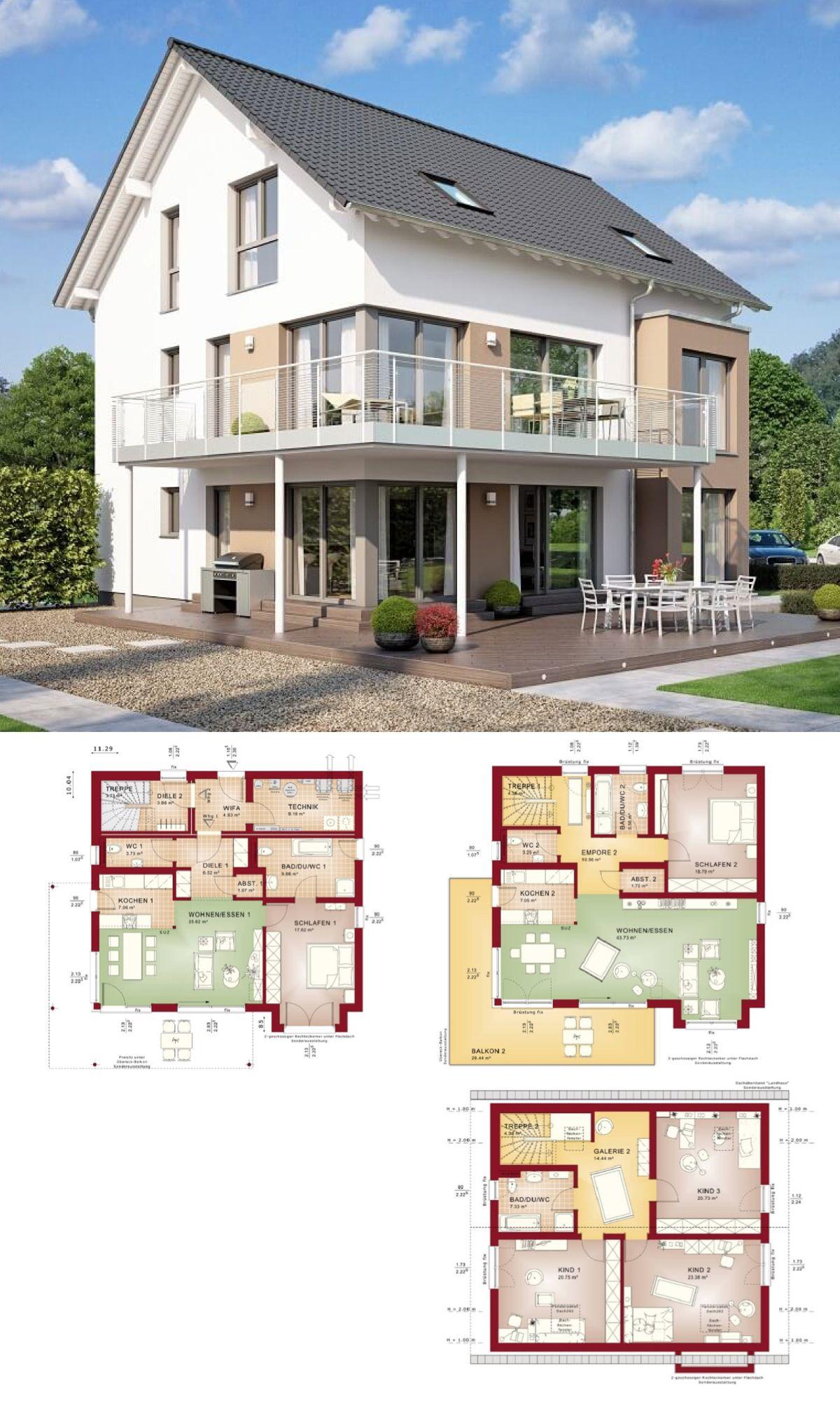 Modernes Zweifamilienhaus Mit Einliegerwohnung