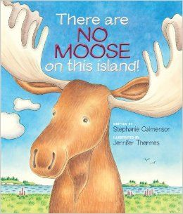 In playful rhymes, acclaimed children's book author Stephanie Calmenson brings the reader along with Jake and his dad, as they explore the mammals, birds, insects, and sea life on and around the island.  Jake - and the reader - start to see the moose, a little bit at a time, but Dad's either got his nose in a book or binoculars glued to his eyes. In the end, it's Jake who shows his dad the value of putting aside the guide book to truly experience the beauty and magic of the outdoors.