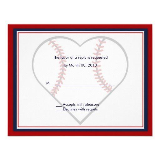 Baseball Wedding Invitation reply cards Weddings and Wedding