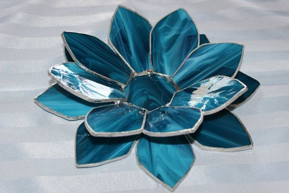 Stained glass lotus flower candle holder stained glass pinterest stained glass lotus flower candle holder mightylinksfo