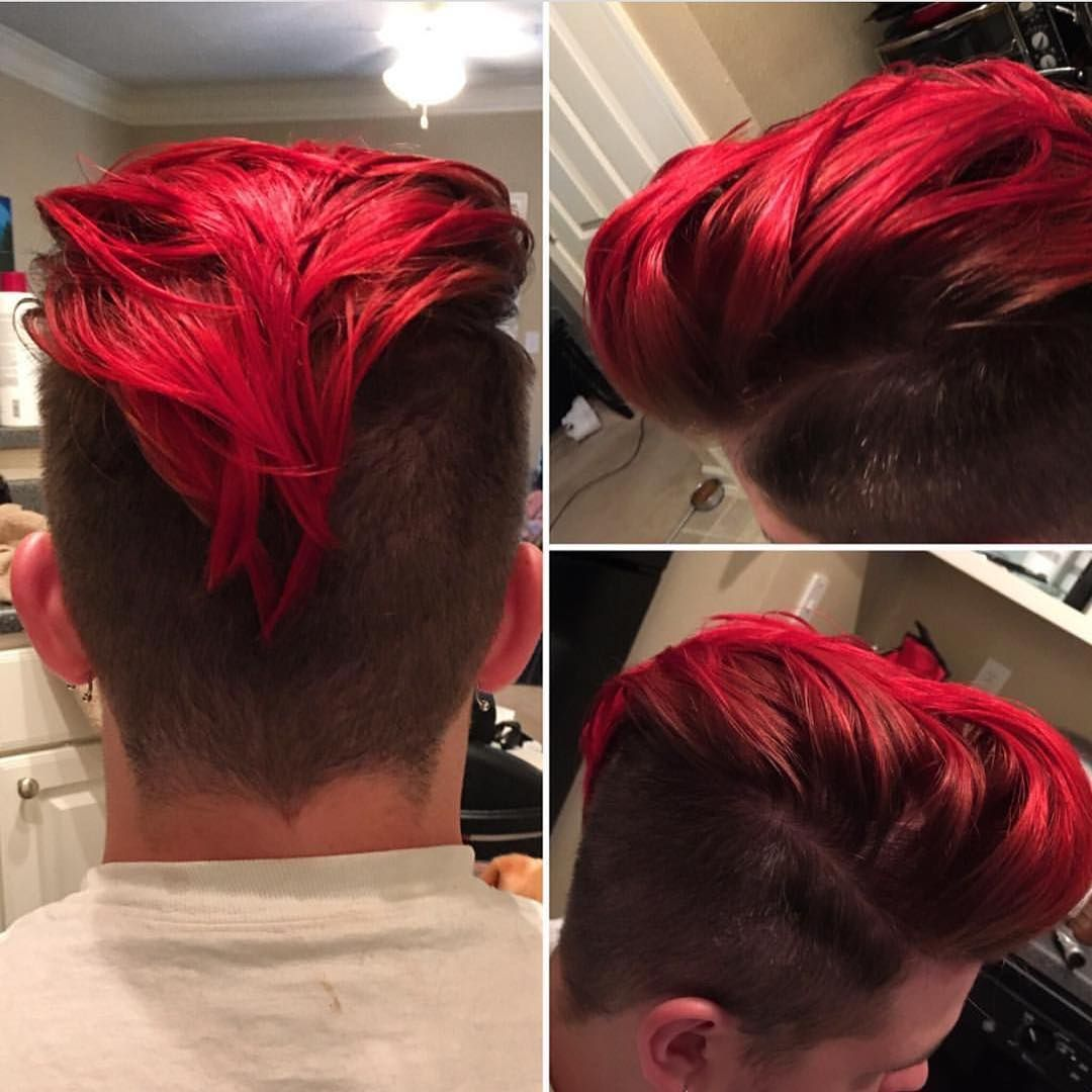 Red Hair Color For Men Red Hair Men Boys Colored Hair Dyed Red Hair