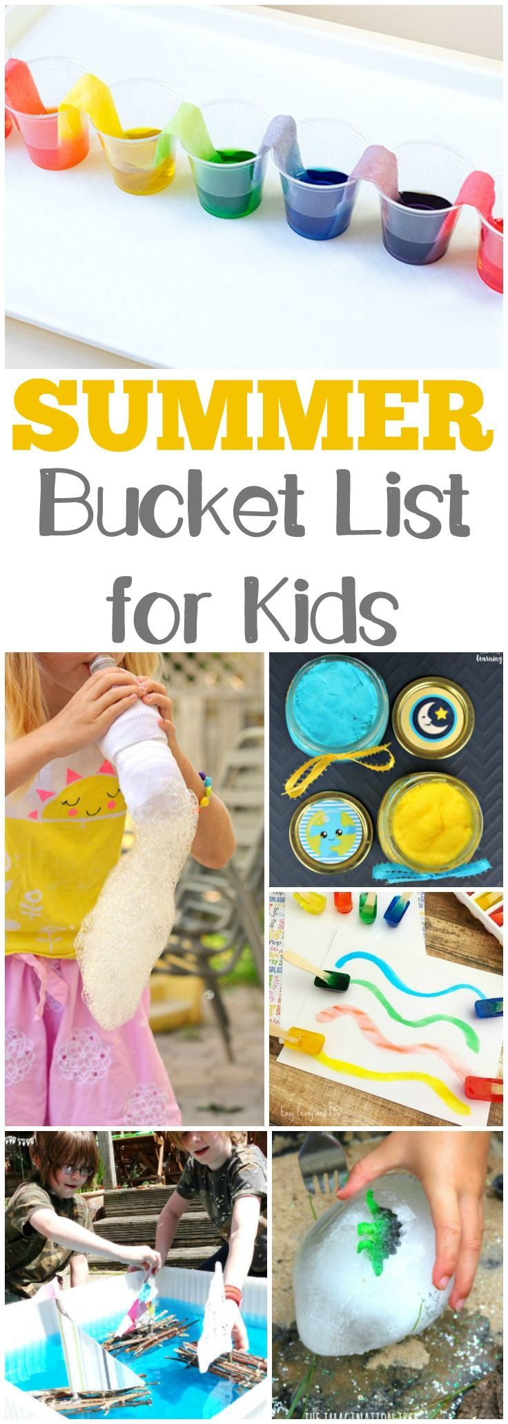 25 Summer Bucket List Activities for Kids is part of Simple Kids Crafts Fun Activities - Keep the little ones entertained this summer with this simple summer bucket list for kids! Plenty of handson activities to try during summer break!