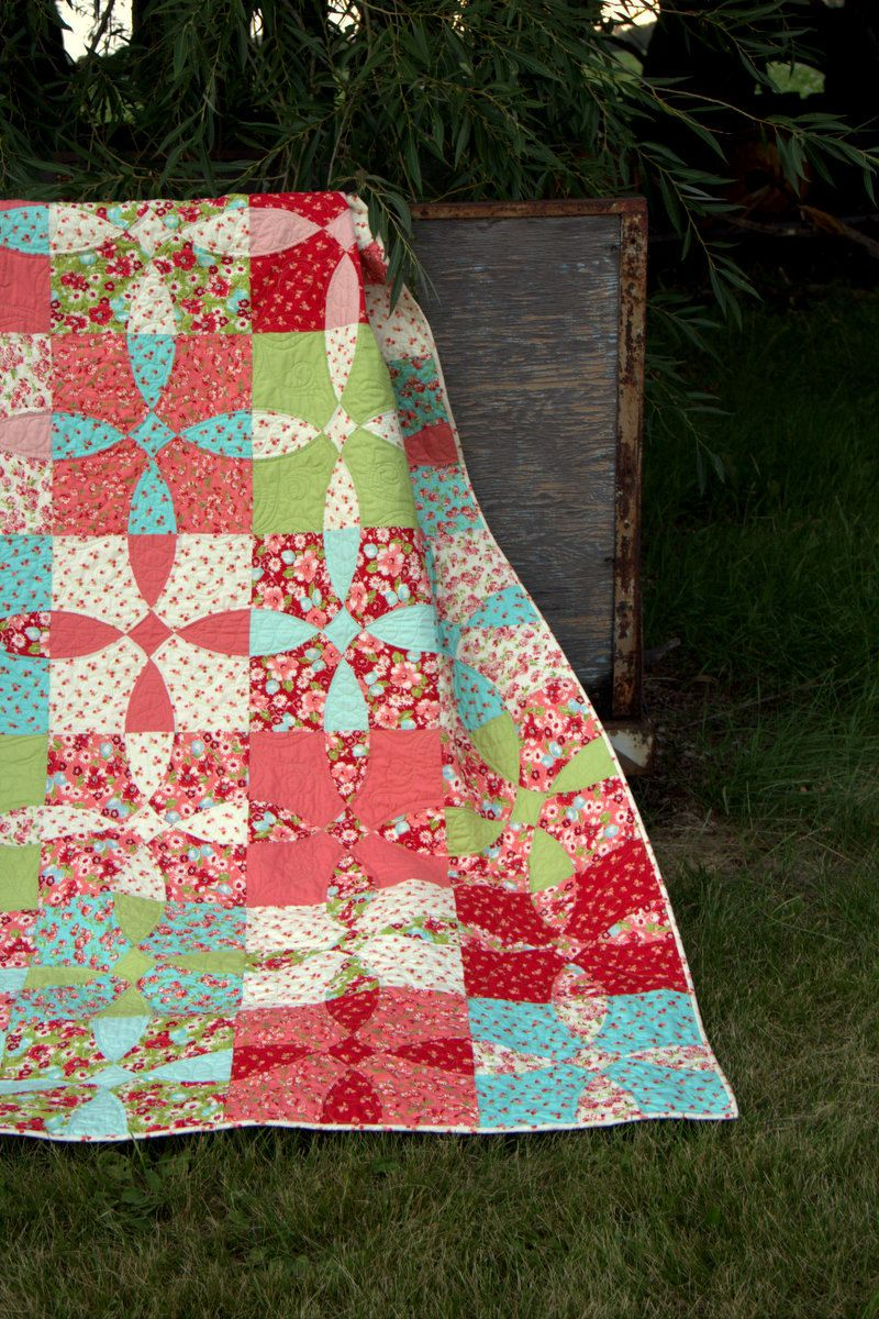 Cotton Fields Quilt Pattern Traditional Patchwork Quilt Pattern Of