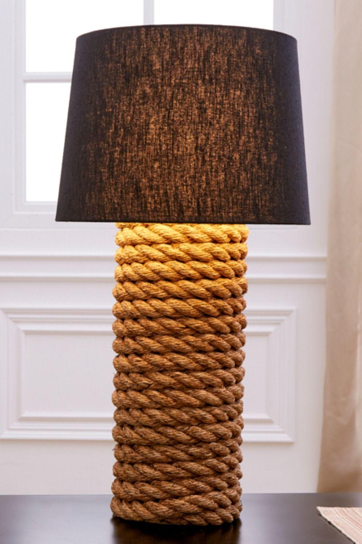 Maritime Tischlampe Seven Seas 75cm Schwarz Seil Tischleuchte Lampe Tischlampen Lampen Und Leuchten