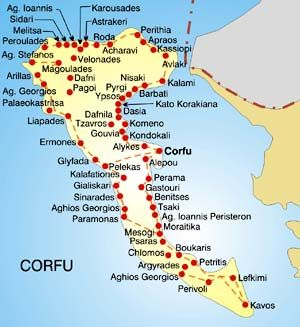 """Image result for corfu greece map in english"""""""