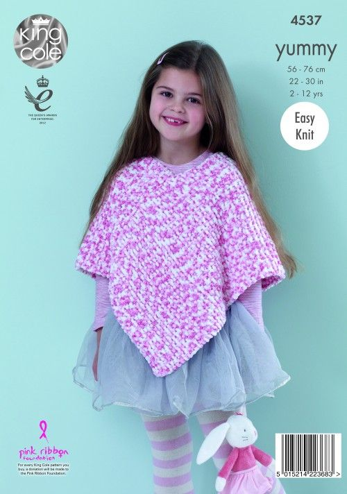 King Cole Poncho Knitting Pattern : Knitted poncho - King Cole patterns Pinterest Ponchos, Knitting pattern...