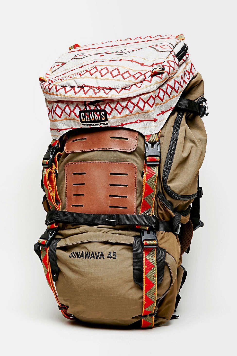 Chums Brown Sinawava 45 Backpack Backpacks Cute Backpacks Hiking Gear
