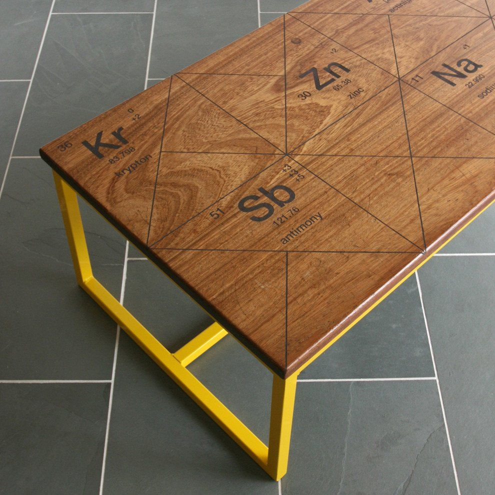Limited edition the harnall periodic table breaking bad the harnall periodic table iroko coffee table gamestrikefo Choice Image