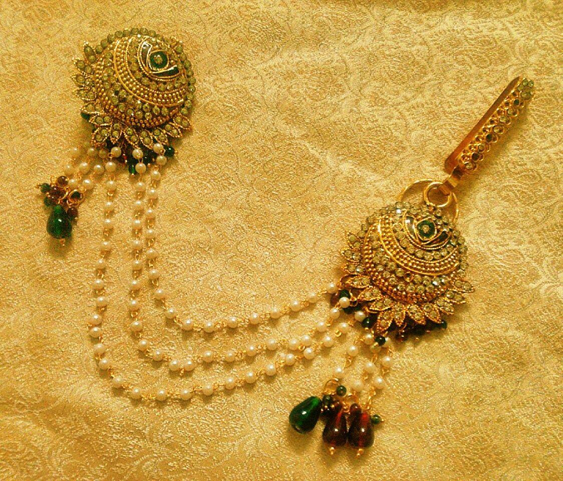 7fb44f2c6869f Kundan Saree Pin Brooch Juda Waist Belly Hip Chain Belt Kamarband ...