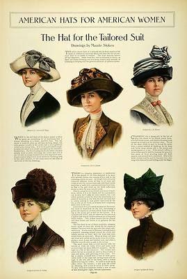 fc959c3cc 1911 Article Edwardian Lady Fashion Women Tea Hats Toques ...
