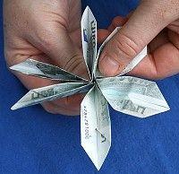 Geld Zur Blume Falten Letzter Schritt Falten Blumen Blumen