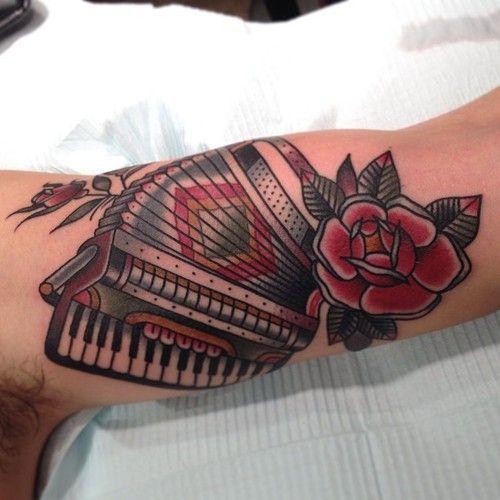 accordion on a fellow englishman matthouston gastown tattoos pinterest tattoo. Black Bedroom Furniture Sets. Home Design Ideas
