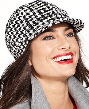 3c9f9f1760631 Charter Club Chenille Houndstooth Newsboy Hat - Handbags   Accessories -  Macy s