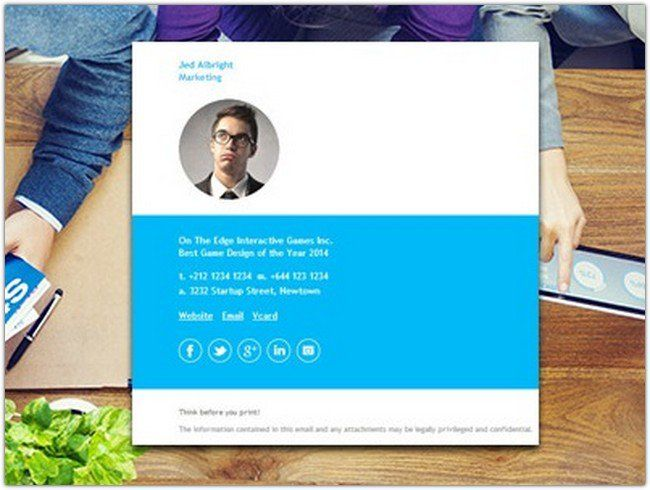 26+ Best Gmail And Email Signature Templates - Web Resources Free - email signature template