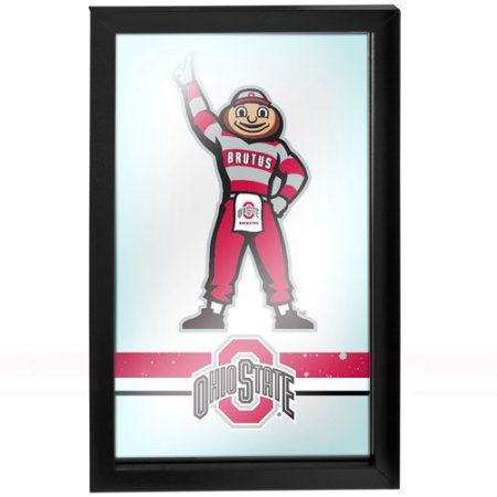 Ohio State Stripe Brutus Framed Logo Mirror, Multicolor