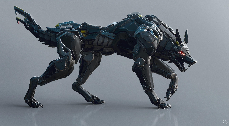 Deviantart Robot Animals: Black Wolf 01 By Andrew Lim