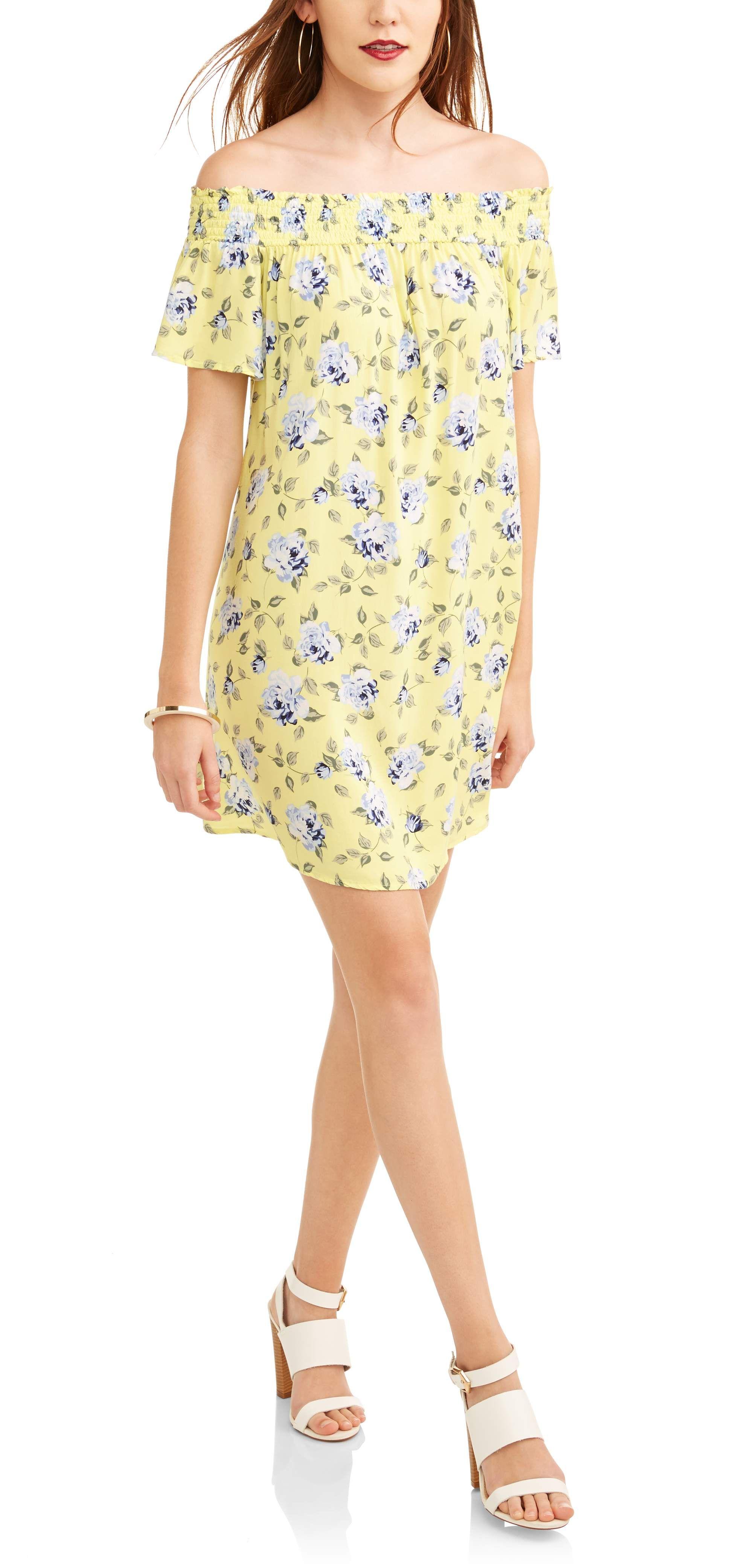 No Comment Women S Smocked Off The Shoulder Dress Walmart Com In 2020 Shoulder Dress Dresses Favorite Dress [ 4162 x 2000 Pixel ]