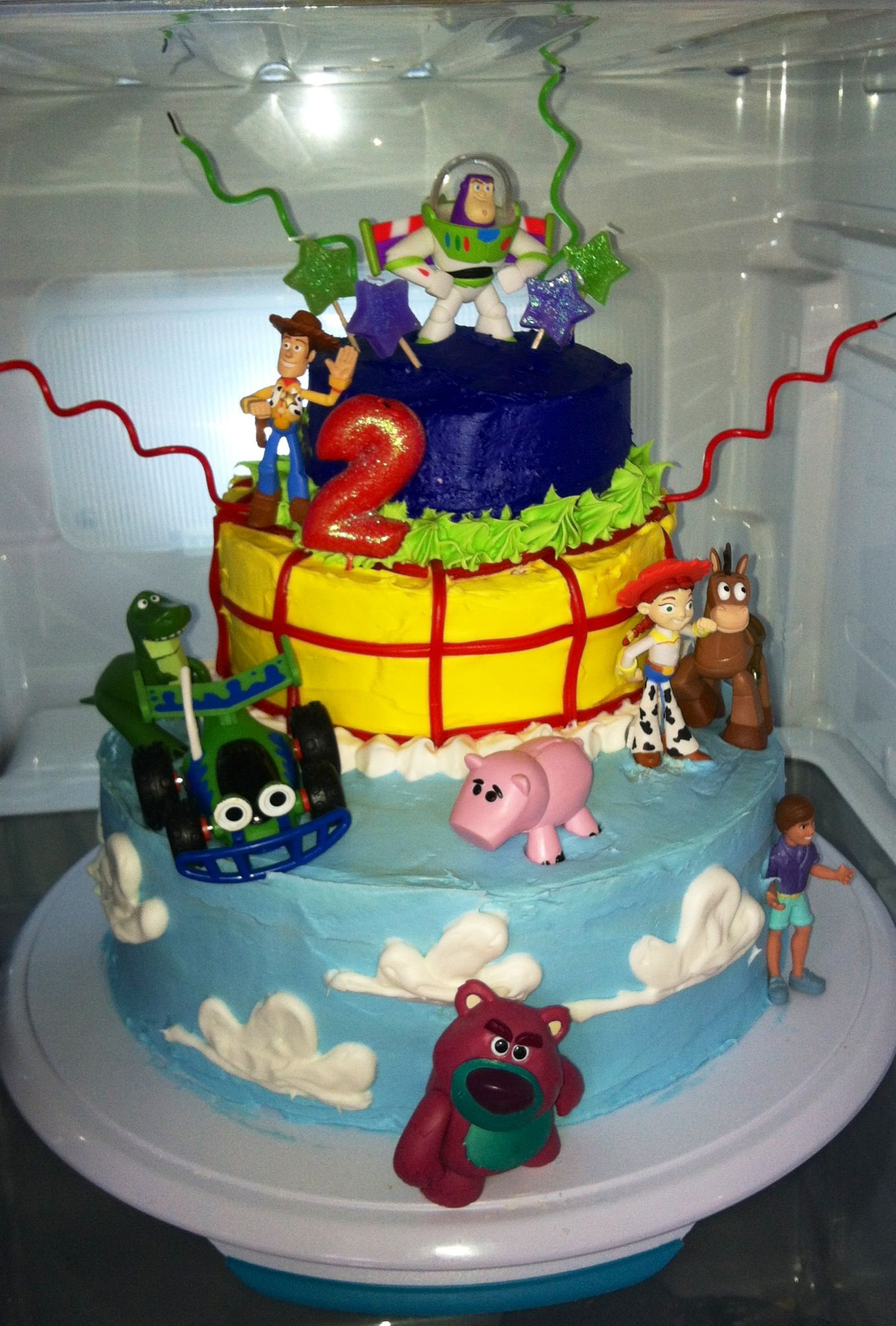Homemade Toy Story Birthday Cake With Images Toy Story