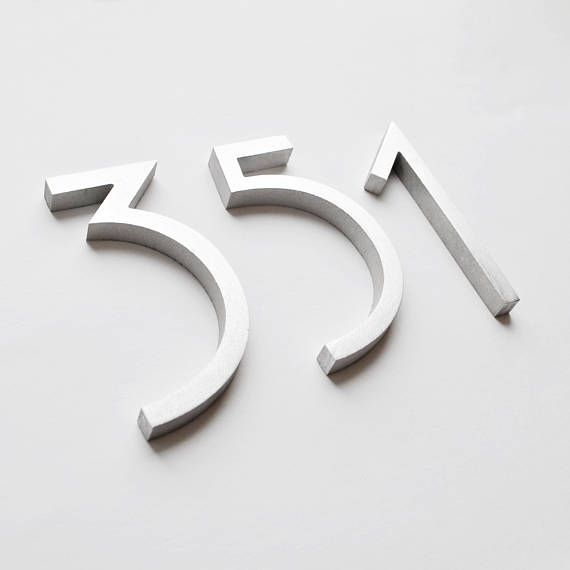 Aluminium Numbers 4 Metal House Numbers And Letters Mcm Numbers Address Metal Numbers Letters