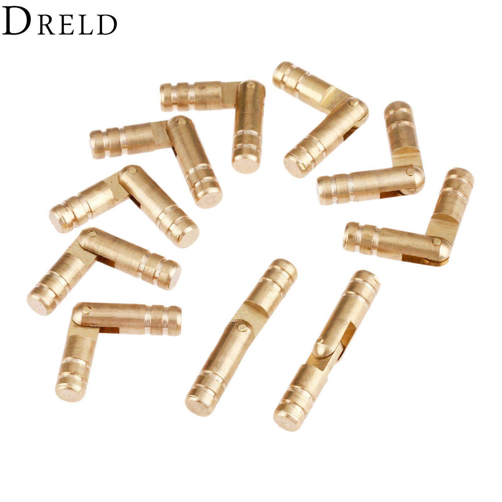 DRELD 10Pcs Pure Copper Brass Wine Jewelry Box Hidden Invisible