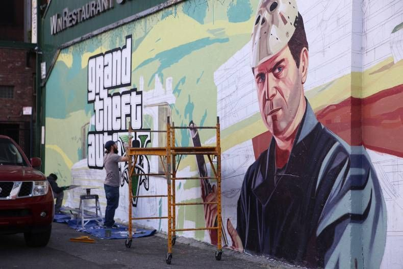 GTA V Street Mural | gta bcz i love them | Gta, Grand theft auto, Gta 5