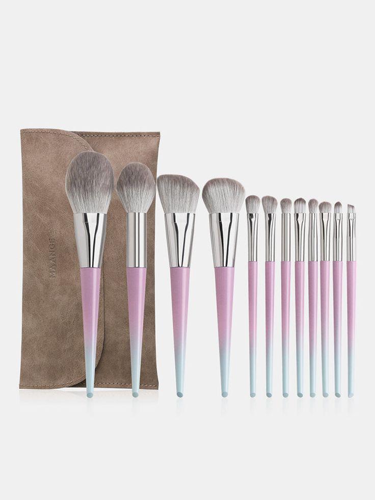 Photo of 12 Pcs Makeup Brushes Set With Brush Bag Foundation Concealer Eyebrow Brush Makeup Tool
