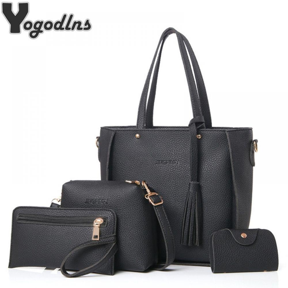 Women Large Tote Top Handle Shoulder Bags Poker Satchel Handbag
