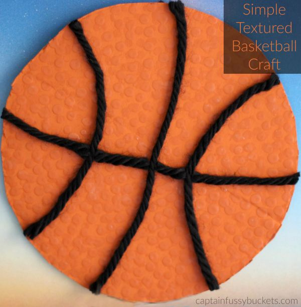 basketball craft ideas textured basketball craft for march basketball 1097
