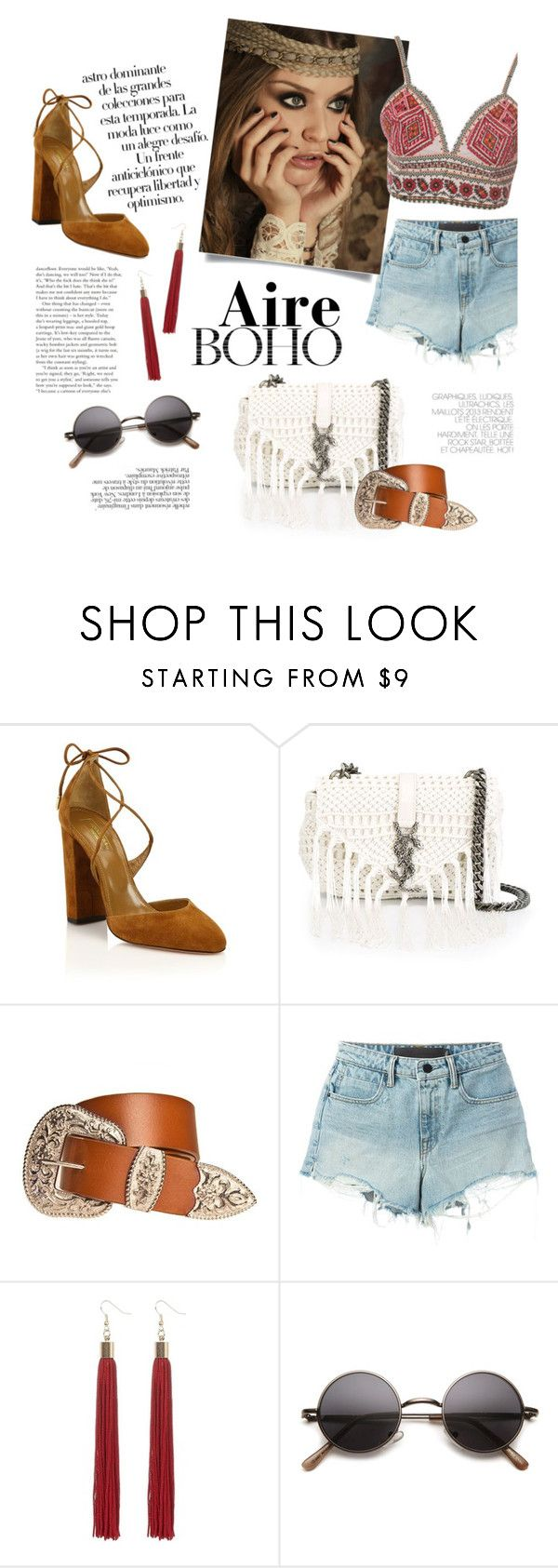 """""""summer is not over"""" by modernbovary ❤ liked on Polyvore featuring Arco, Aquazzura, Yves Saint Laurent, Alexander Wang, Behance, Glamorous and country"""