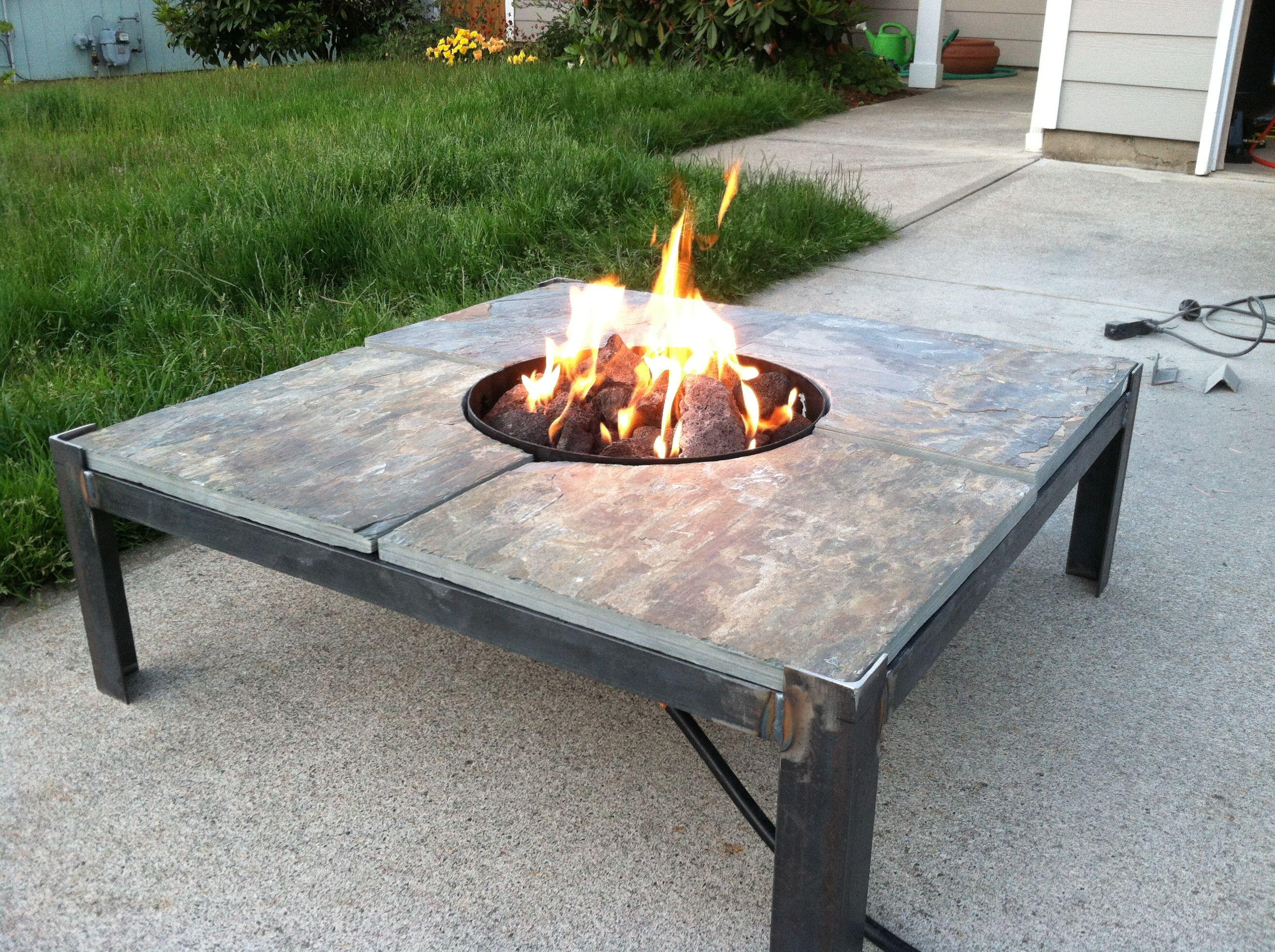 Pin By Aaron Osborn On Fire Pit Table Welding Project Welding