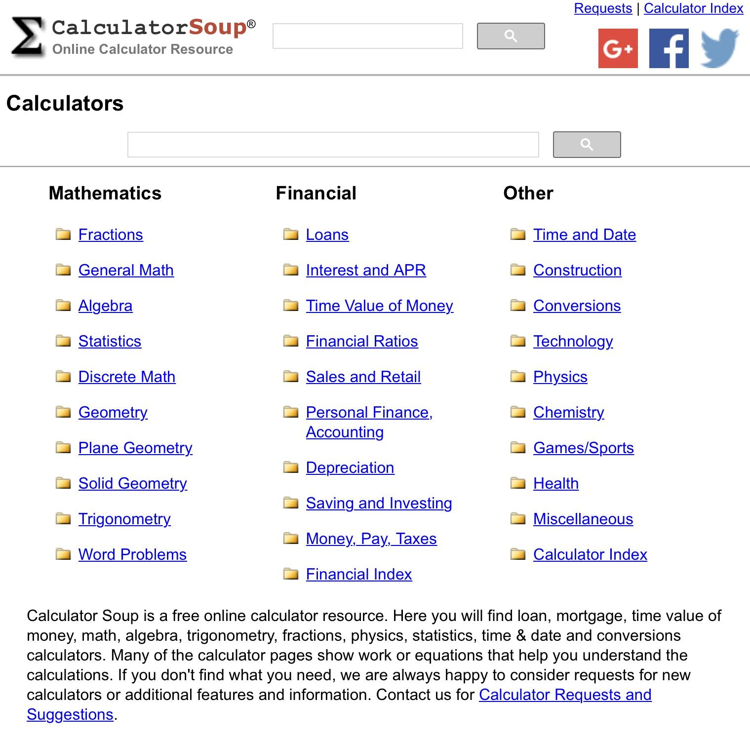 Calculator Soup Free On Line Calculators For Any Problem Online Calculator Earth And Space Science Space Science