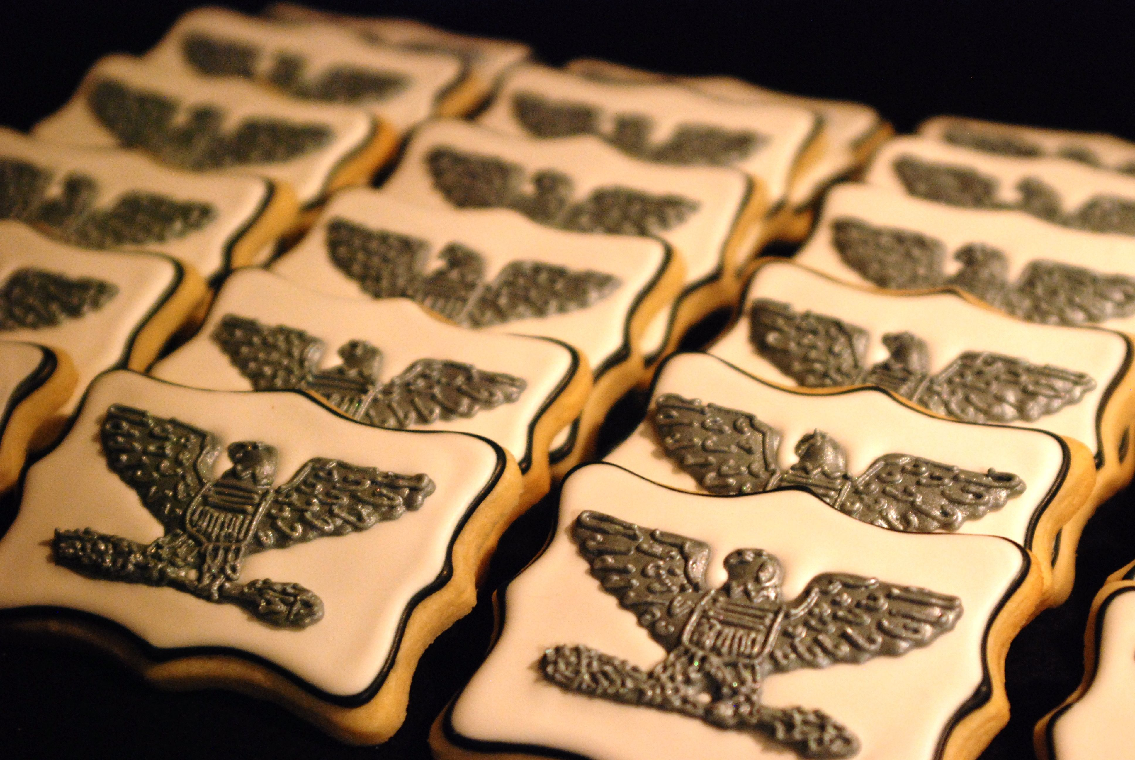 Cookies for an Air Force Colonel's promotion party