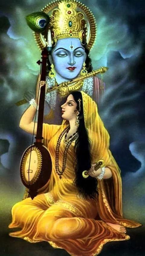 hd pic of lord krishna and radha