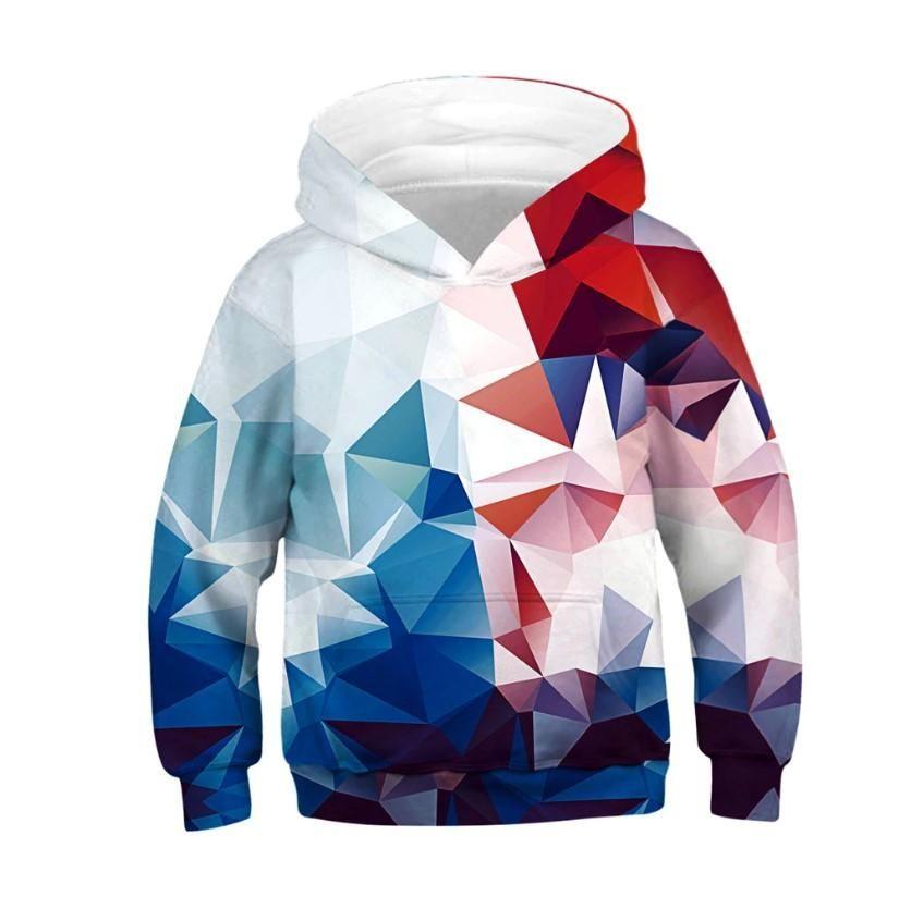 Boys Girls Cartoon Print Anime Long Sleeve Hoodies Casual Sweatshirt Jumper Coat